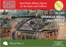 WW2V20015 20MM ALLIED SHERMAN M4A4 AND FIREFLY TANK PLASTIC SOLDIER COMPANY WW2