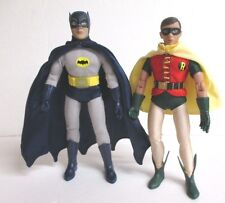 "BATMAN & ROBIN 8"" Figure Set Retro-Mego Classic TV Show Figures Toy Co DC Comics"