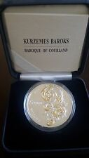 "Latvia Lettland 5 euro Silver Proof Coin 2014 ""Baroque of Courland"" in box + COA"
