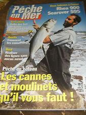 La pêche en mer N°141 Pêche en bateau cannes à moulinets Conservation appats