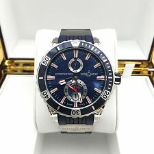Ulysse Nardin Maxi Marine Diver 263-10-3/93 Blue Wave Dial 44mm Watch MINT!