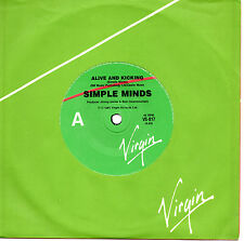 """SIMPLE MINDS - ALIVE AND KICKING - 7"""" 45 VINYL RECORD 1985"""