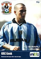 2000/01 Coventry v KRC Genk, friendly, PERFECT CONDITION