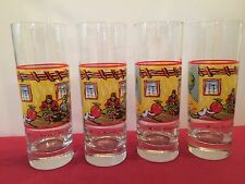 Wild Appel By Vincent Van Gogh Spirits Set Of 4 Whiskey, Beer Glass, EUC