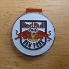 """NEW YORK RED BULLS MLS Soccer 1"""" Golf Ball Marker 2 sided with Red Hat Clip"""