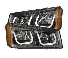 ANZO USA 111312 U BAR STYLE HEADLIGHTS FOR CHEVY SILVERADO & AVALANCHE 2003-2006