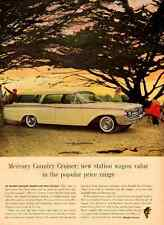 1962 vintage automobile ad, Mercury Country Cruiser Yellow Station Wagon -121512