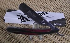 STRAIGHT RAZOR - GERMAN STYLE WOOD - STAINLESS - NEW -FREE SHIPPING