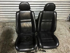 MG TF LE500 MGTF 1.6 1.8 MGF - EBONY BLACK OXFORD FULL LEATHER SEATS - PAIR