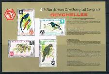 CONGRESSO ORNITOLOGICO Seychelles 1976 MS SG 373 Gomma integra, non linguellato
