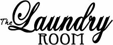 """13"""" LAUNDRY ROOM QUOTE VINYL DECAL STICKER DESIGN WASHING ROOM WALL ART"""