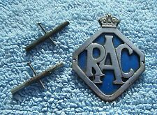 VINTAGE 1946-54 ROYAL AUTOMOBILE CLUB CAR GRILLE BADGE - BRITISH RAC AUTO EMBLEM