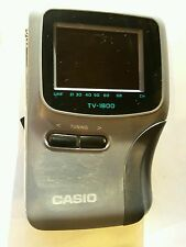 Time warp vintage UHF 1990's Casio TV-1800D LCD Portable Pocket Analogue Colour