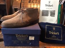 Tricker's 'Polo' Suede Chukka Boots UK:9 RRP£385 Perfect For Church Brogue Shoes