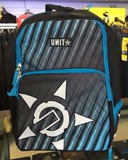 UNIT MENS KIDS YOUTH BACK PACK CREATURE BLUE SKATE SCHOOL OVERNIGHT LUGGAGE