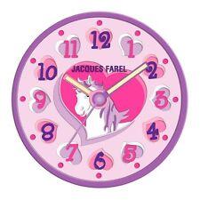 Jacques Farel Reloj de niños para la pared Unicornio/Caballo/Pony niñas WAL07
