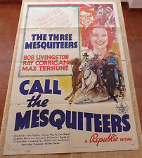 Call the Mesquiteers Movie Poster, Original, Folded, One Sheet, year 1938, U.S.A