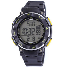 SHHORS Waterproof Week Date Alarm LCD Mens Military Digital Sport Wrist Watch