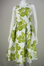 Eliza J Womens Size 6 White Green Floral Fit & Flare Party Tea Dress New NWOT