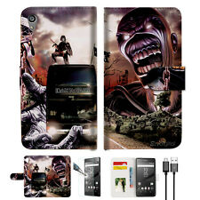 Iron Maiden Wallet TPU Case Cover For Sony Xperia Z5-- A014