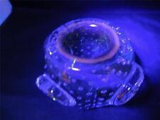 MURANO solfato di cadmio sommerso GALLIANO FERRO bullicante glass Dish Bowl vaso