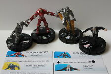 Marvel Heroclix Iron Man 3 # 13 # 14 # 15 # 16 todos los b caso Exclusives