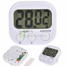 Large LCD Digital Kitchen Cooking Timer Count-Down Up Clock Loud Alarm new