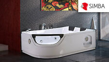 WHIRLPOOL CORNER BATH JACUZZI SPA 180 x 120 cm HOT TUB BATHTUB Mod.ELITE