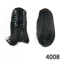 Promotion Clip In Ponytail Hair Extension Claw On Hair Piece Straight Hair #4008