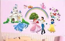 DISNEY PRINCESS CASTLE CINDERELLA LARGE  WALL STICKER NURSERY/KIDS ROOM DECAL