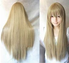 "32""/40""Black White Pink Red Blue Grey Silver Brown Long Cosplay Wig Fancy Wigs"
