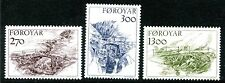Faroe Island Stamp Scott #149-151 Old Stone Bridges 1986 MNH