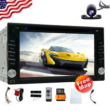 GPS Navigation 2Din HD Car Stereo DVD CD Player Bluetooth Auto Radio USB+Camera