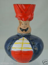 VINTAGE HUNGARY ART POTTERY MAN W/RED HAT SHAPED VASE/JUG/CUP SIGNED