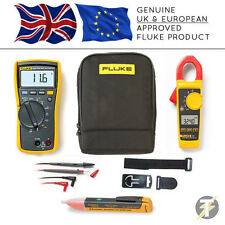 Fluke 116 True RMS Multimeter + 324 Clamp Meter + TPAK3 + 1AC + C115 Case