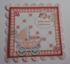 PK 2 BENVENUTO PICCOLO BABY GIRL decorazioni per abbellimento per le schede e artigianato