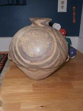 """Neolithic Yangshao Jar 2 Handles Decorated Urn Vessel 13"""" Chinese Antique Asian"""