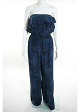 NWOT JAY GODFREY Multi Colored Animal Print Strapless Cinched Jumpsuit Sz 6