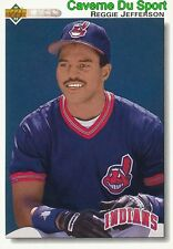 656 REGGIE JEFFERSON CLEVELAND INDIANS  BASEBALL CARD UPPER DECK 1992