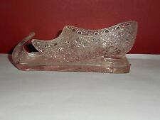 EAPG BRYCE BROTHERS CRYSTAL CHINESE GLASS TOBOGGAN SHOE SNOWSHOE BOTTOMS 1880'S