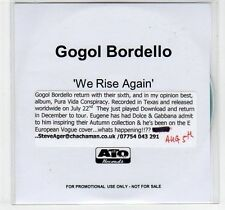 (EF17) Gogol Bordello, We Rise Again - DJ CD