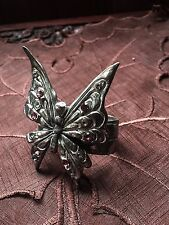 Fairy Faery Butterfly Wings Pewter Napkins Serviette Ring Pagan From Norway