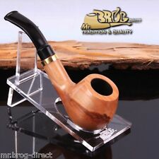 "OUTSTANDING Hand made Mr.Brog original small smoking pipe nr 32 nature "" DUCAT """