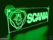 24V LED Interior Cabin Light Green for SCANIA Laser Neon Illuminating Table Sign
