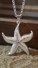 Grand étoile de mer Pendentif Plaqué Argent tel que sur la photo &