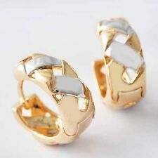 Fashion Silver Plated Rose Gold Filled openwork Round small clip Hoop Earrings