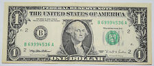 USA: $1 Dollar Banknote since 1995 in aF Condition. USD. Number: B 69994536 A