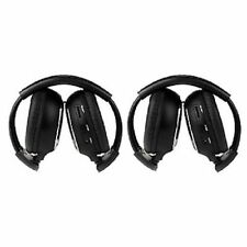 2pcs IR Wireless Headphones Headsets for Car DVD Player Headrest Stereo Audio