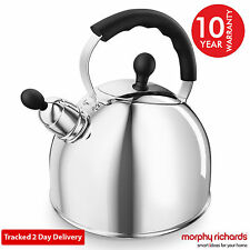 Morphy Richards 46575 2.5Litre Stove Top Whistling Kettle Stainless Steel