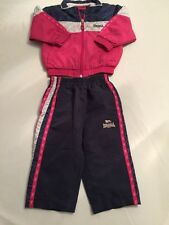 Lonsdale Chándal Pantalones Chaqueta Top Chicas 6-12 mes < N129